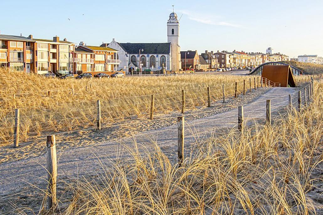 Zicht op het oude Katwijk aan Zee